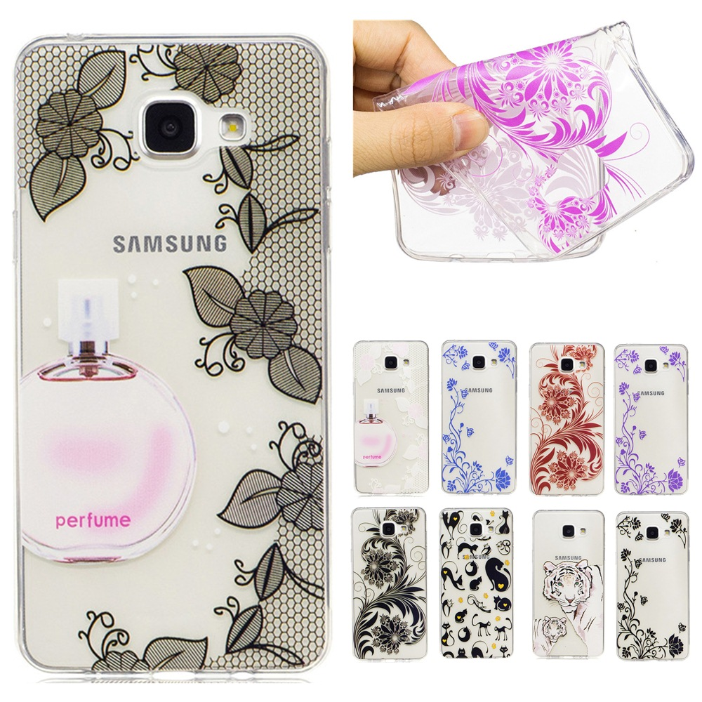 Cat perfume bottle Transparent TPU <font><b>Case</b></font> For Samsung Galaxy 2015/<font><b>2016</b></font> J1 J120 J3 J310 <font><b>J5</b></font> J510 J7 J710 A3 A310 A5 A510 Soft Cover