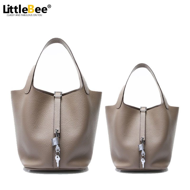 women genuine leather handbags set 2016 togo bucket bags famous brand designer drawstring tote bag high