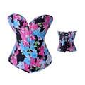 Nueva Moda Deshuesados Atan Para Arriba el Corsé Volver Venta Caliente Sexy Lingerie Inicio Bustier Floral Con G-secuencia de Las Mujeres de La Cintura Corsés