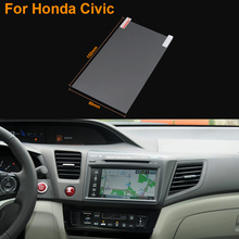 Car Styling 7 Inch GPS Navigation Screen Steel Protective Film For Honda Civic Control of LCD Screen Car Sticker