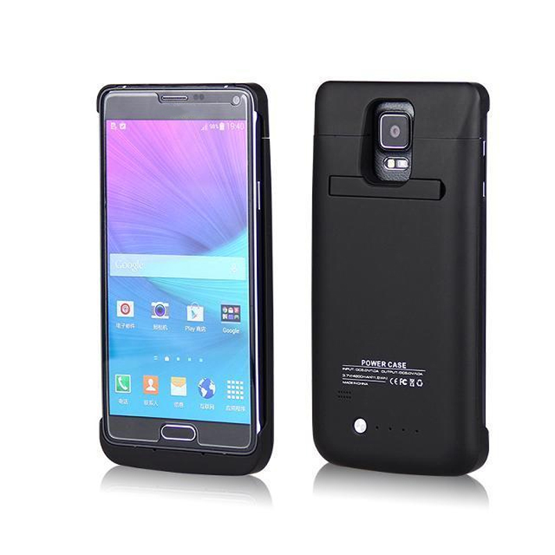 Note4 4800mAh Rechargeable Backup External Battery Charger Power Bank External Pack Case Cover