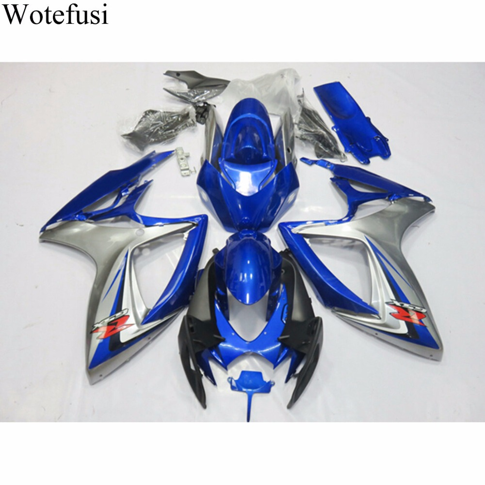 Wotefusi New UV Paint ABS Injection Bodywork Fairing For Suzuki GSXR 600 GSXR750 K6 06-07 2006 2007 [CK1374] new motorcycle ram air intake tube duct for suzuki gsxr600 gsxr750 2006 2007 k6 abs plastic black