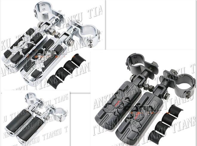 Motorcycle Guard Crash Bar Foot Pegs For VStar 400 650