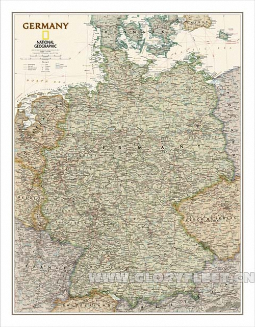 Large Map Of Germany.Large Vintage South Germany Map Bar Cafe Home Decoration Detailed