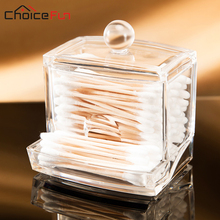 CHOICE FUN 2017 Fashion Clear Acrylic Cotton Swab Organizer Box Cosmetic Q-tip Holder Makeup Storage Case Hotel Supplies SF-2130