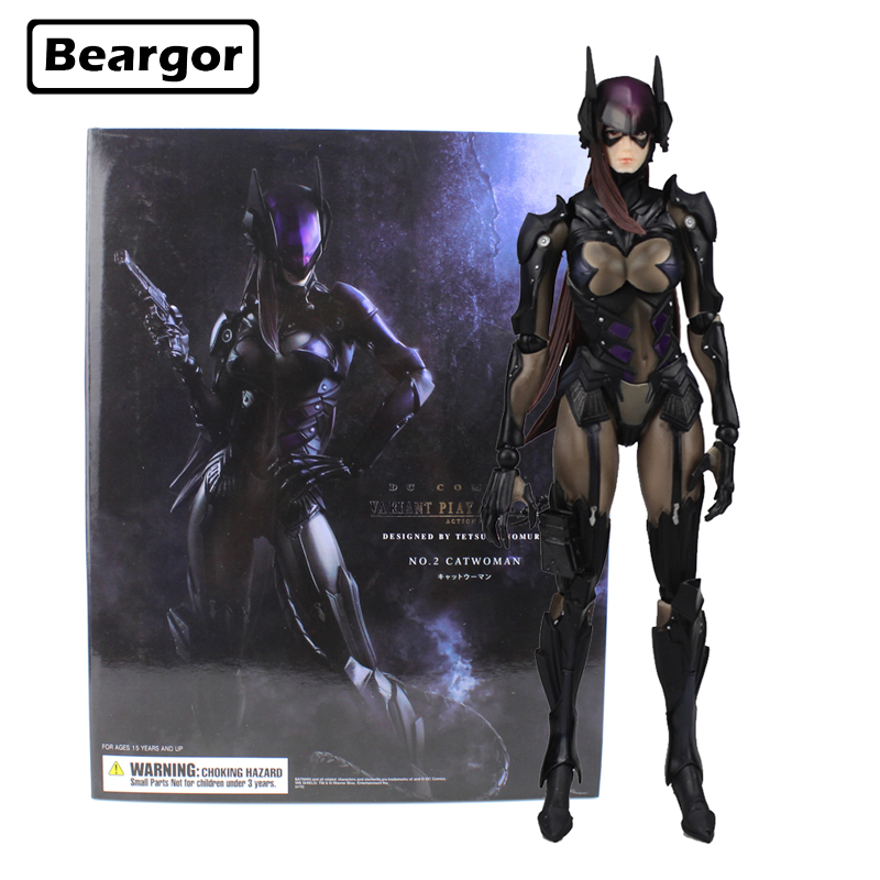 Free Shipping 10 inch DC Hero Catwoman No. 2 PA KAI Moveable Boxed 25cm PVC Anime Action Figure Collection Model Doll Toys Gift