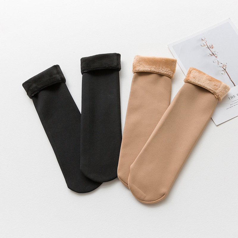 SVOKOR Winter Keep Warm Thicken Sock Wool Cashmere Snow Socks Seamless Women Socks Breathable Anti-drawing Snow Socks
