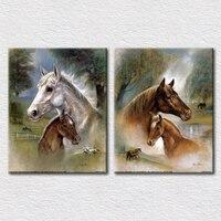 Nowoczesny koń obraz olejny drukowane na płótnie dekoracyjne zdjęcia na ścianie sypialni wysokiej jakości reprodukcji artwork