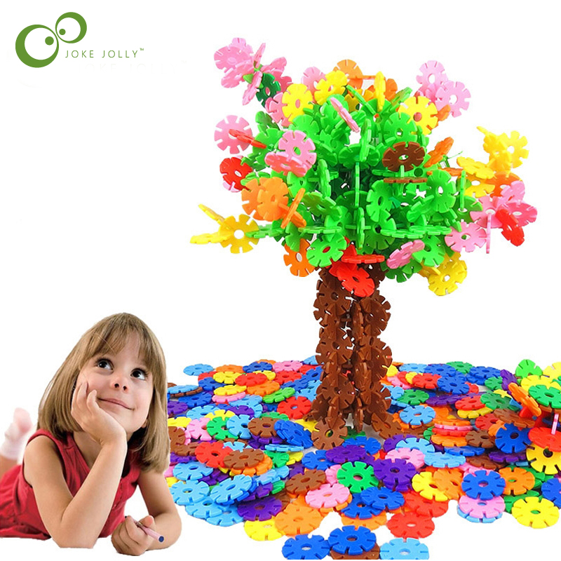 100pcs/bag Snow Snowflake Building Blocks Toy Baby Children Educational Toy DIY Assembling Bricks Kids Classic Toys GYH