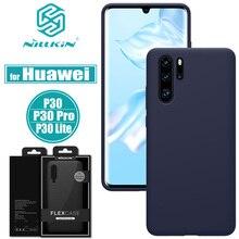 Huawei P30 פרו מקרה NILLKIN להגמיש טהור רך נוזל סיליקון גומי עמיד הלם טלפון תיק Huawei P30 לייט (נובה 4E) כיסוי