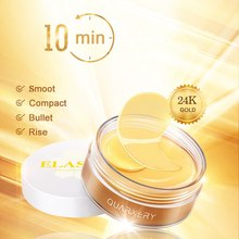 24k Gold Gel Crystal Collagen Eye Mask For Dark Circles Remove Eyes Cream Patches For The Eyes Ageless Removal Face Care(China)