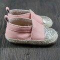 Novos sapatos de bebê Primeira Caminhantes tecelagem de couro Genuíno mocassins de bling meninas do menino Da Criança do bebê Sapatos 11.5-14.5 cm Livre grátis