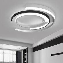 Modern LED tavan ışıkları lamba oturma odası yatak odası için AC85 265V lamparas de techo Modern LED karartma tavan yatak odası için lamba
