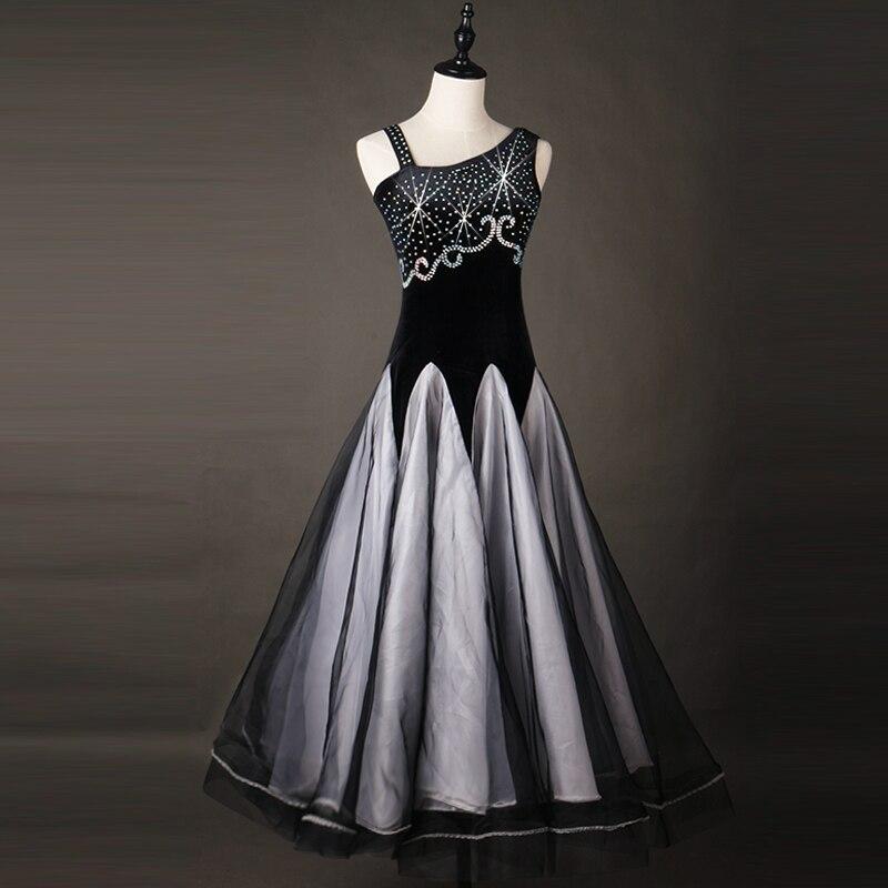 Черное бальное танцевальное платье с бахромой бальное платье для латинских танцев танцевальные костюмы фламенко Танго Вальс платье фокстр