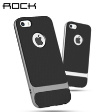 For iPhone 5 5S ROCK Royce Series Phone Case For iPhone 5 Case For 5s Coque For  iPhone SE Back Stand Cover Protective Phone bag
