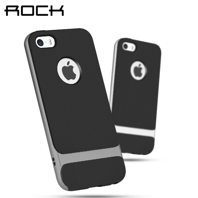 best cheap 31738 dd70f US $7.77 |For iPhone 5 5S ROCK Royce Series Phone Case For iPhone 5 Case  For 5s Coque For iPhone SE Back Stand Cover Protective Phone bag-in Fitted  ...
