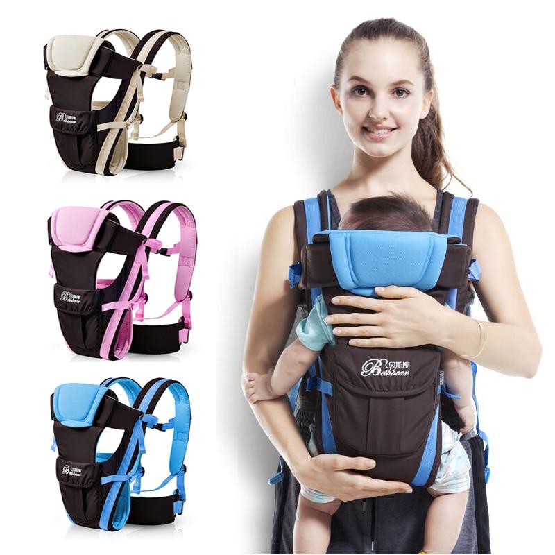 2 - 30 mois respirant multifonctionnel avant face Baby Carrier Sling infantile confortable Backpack Pouch Wrap bébé yYWASQx3