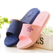 Women Summer Sandals Beach Bathroom Platform Slippers Casual Shoes Female Fashion Home Interior Bathroom Star Flip Flops