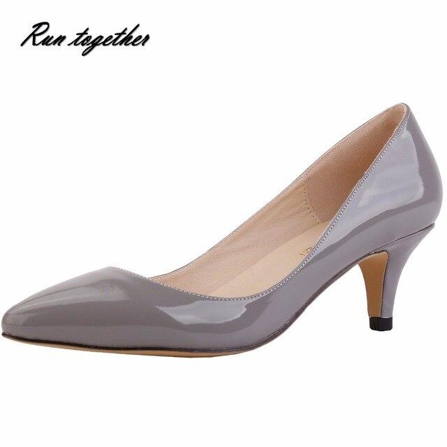 Новая коллекция весна лето женщины-лодочки мода острым носом туфли на каблуках женщина ну вечеринку свадебные туфли искусственная кожа размер 35 - 42