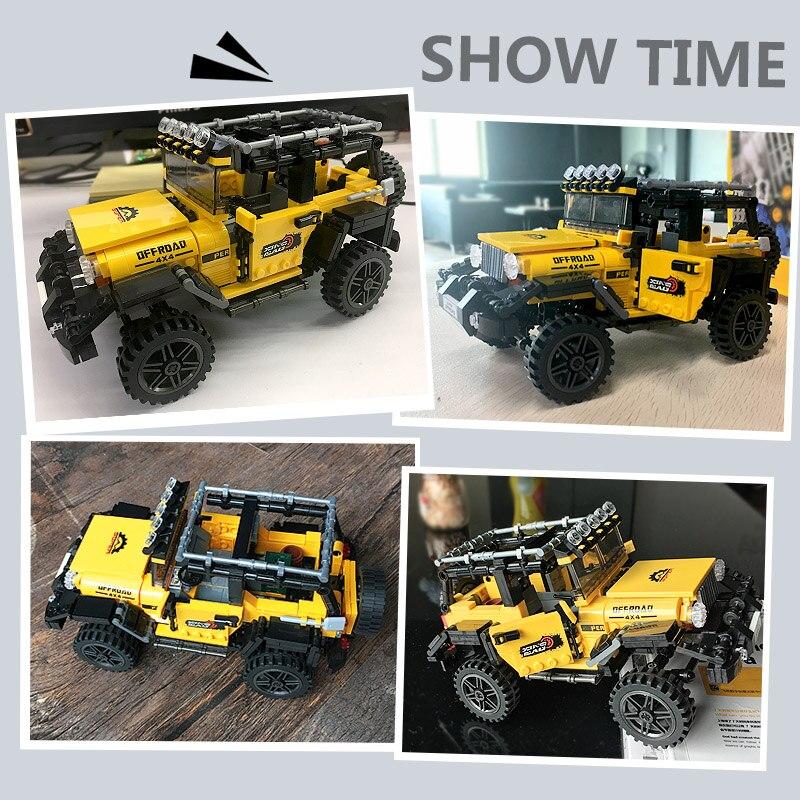 610pcs Offroad Adventure Set Building Blocks Car Series Bricks Toys For Kids Educational Kids Gifts Model Christmas