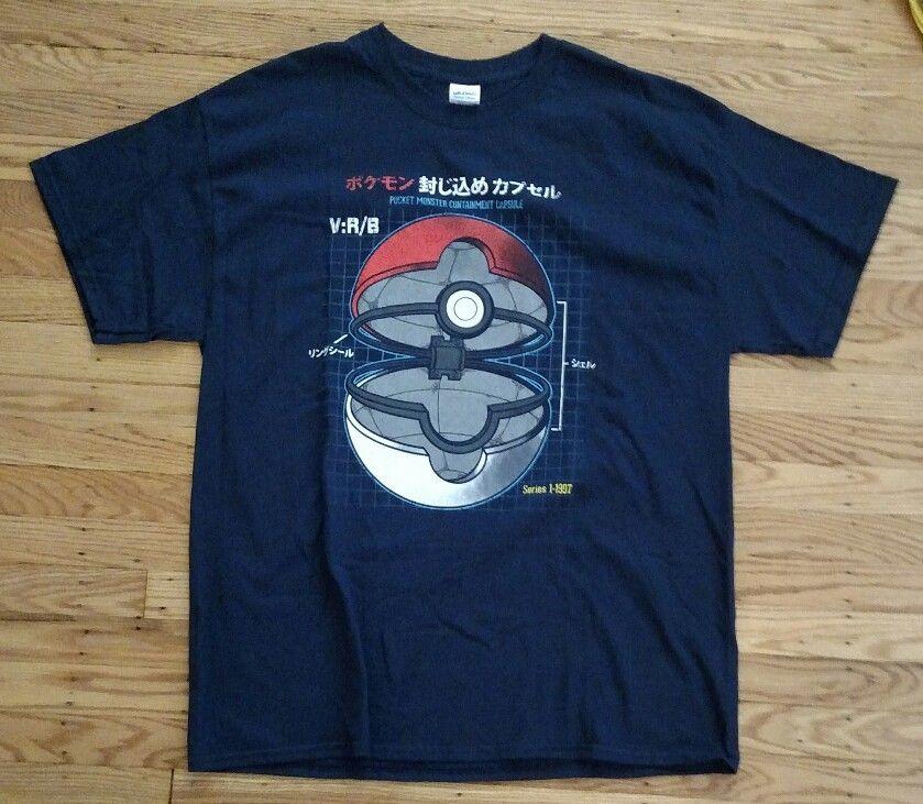 2019-new-mens-font-b-pokemon-b-font-pocket-monster-containment-capsule-men's-xl-tee-shirt-navy-tee-shirts