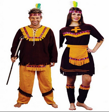 2016 hot sale halloween costume couples dress native greeks indian hunter cosplay costume wild man couple - Sale Halloween Costumes
