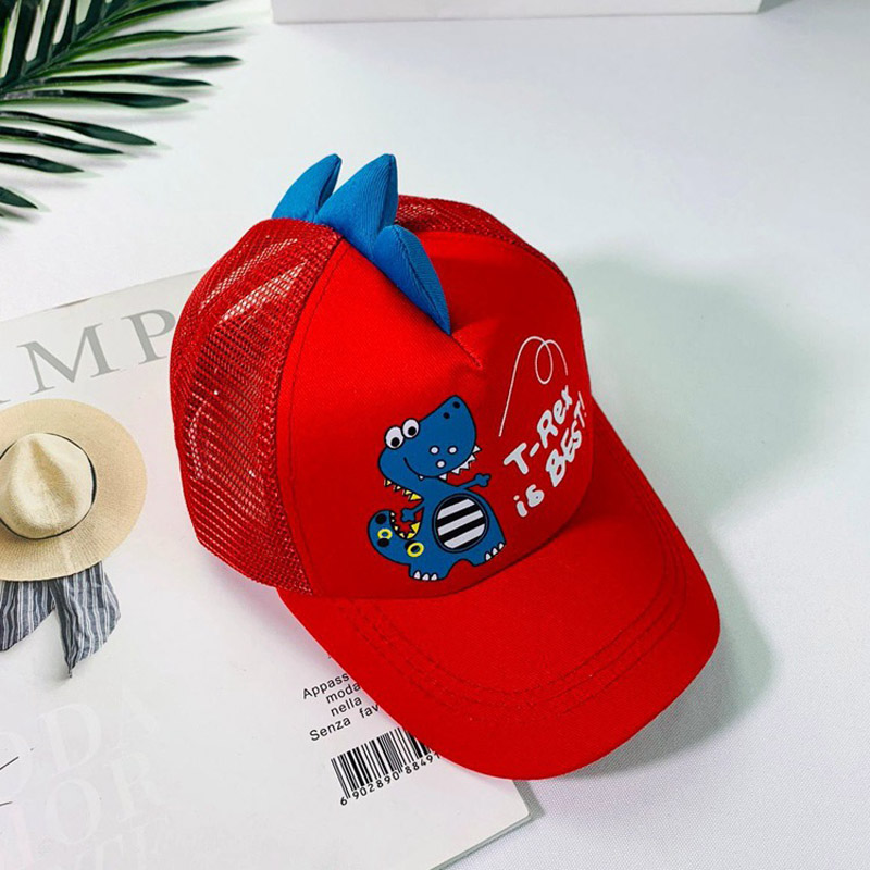 HTB1V340LMHqK1RjSZFEq6AGMXXaF - Doitbest 2-8 Years old Summer Children Baseball Cap Boys Girls Cartoon Dinosaur Snapback mesh Kids HipHop Hat Sun cap