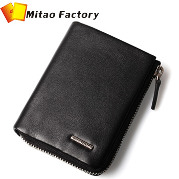 2014 Fashion Handbag Man Genuine Luxury Leather Brand Zipper Wallets men With Cread Card Holder Gift For Man Free Shipping