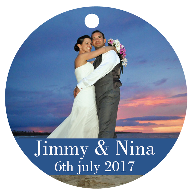 Round Wedding Invitation Label 1: 100 PCS Personalized People Print White Tag Labels Round