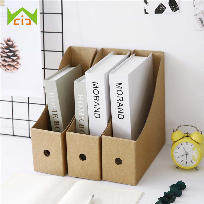 WCIC Document Holder Paper Bookshelf Office Folder Storage Information Frame Storage Book Box Desktop Document Box Book Holder