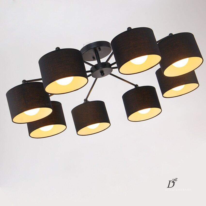 Stoff Tuch Led Deckenleuchten Kunst Mit E27 Dekoration Schlafzimmer Licht Wohnzimmer LampenChina