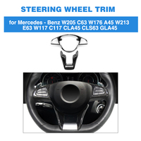 Carbon Fiber Steering Wheel Patch Trim Cover For Mercedes Benz W205 W213 W176 W177 GLA45 A45 CLA45 CLS63 C63 E63 AMG