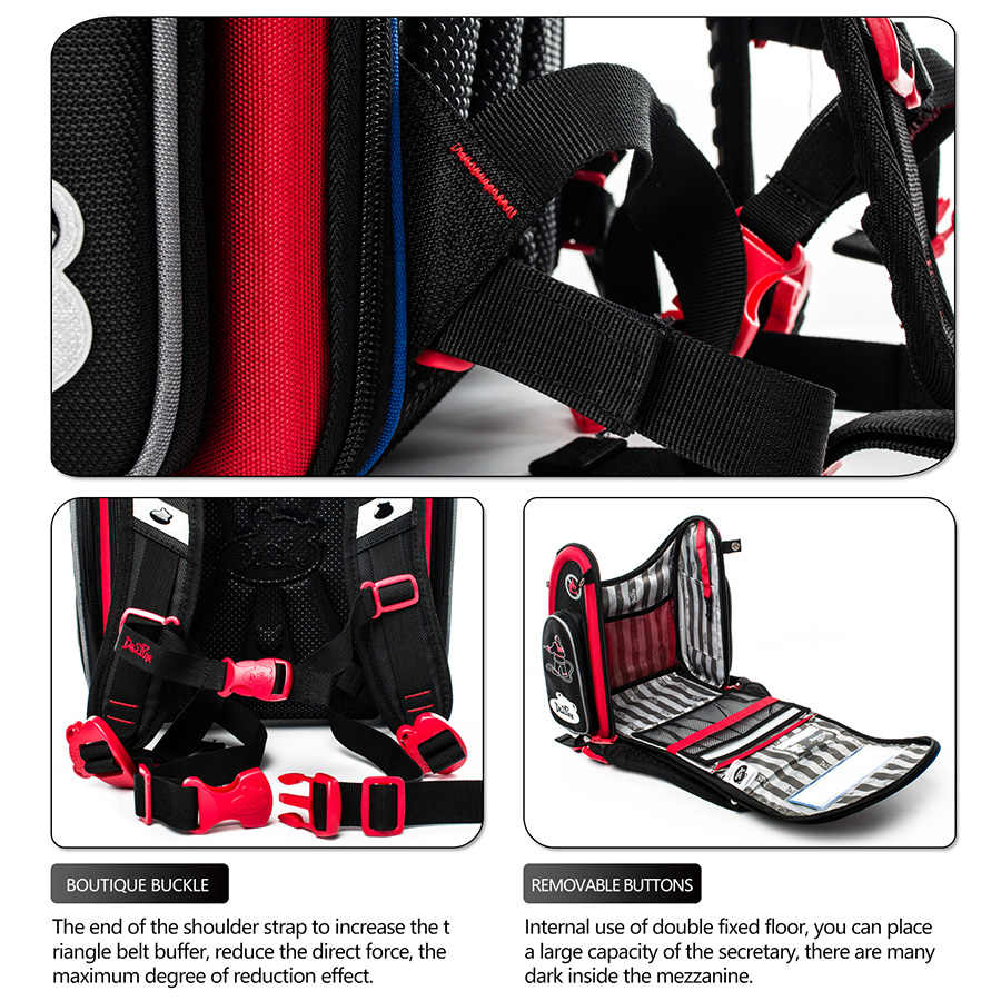 2019 delune брендовые школьные сумки для девочек От 5 до 9 лет мальчиков безопасный 3D ортопедические детские школьные рюкзаки класс 1-3 детский школьный ранец с изображением мультяшных геров