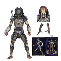 2pcs Head 2018 New NECA Aliens vs Predator Ultimate Fugitive Predator Unmasked Scarface Action Figure Toy Doll