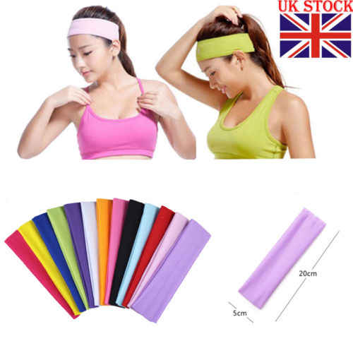 Unisex Dames Mannen Sport Yoga Zweetband Gym Stretch Hoofdband Haarband Vrouwen Mode Hoofddeksels Head Band Haarbanden gym haarband