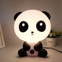 Night Lovely Sleeping Lamp Baby Room Panda Bearcat Cartoon Light Bed Lamp For Gifts EU Plug