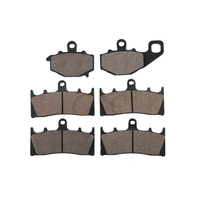 6 PCS Motorcycle Sintered FRONT REAR BRAKE PADS FOR KAWASAKI ZX600 NINJA ZX6R ZX 6R ZX