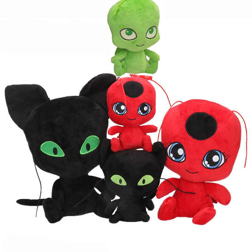 15/20 ซม.Ladybug Lady Bug ตุ๊กตาตุ๊กตา Plush ตุ๊กตาของเล่น Lady Bug ของเล่น Dot พิมพ์หน้ากาก & กระเป๋าถือของเล่นเด็กวันเกิดคริสต์มาสของขวัญ