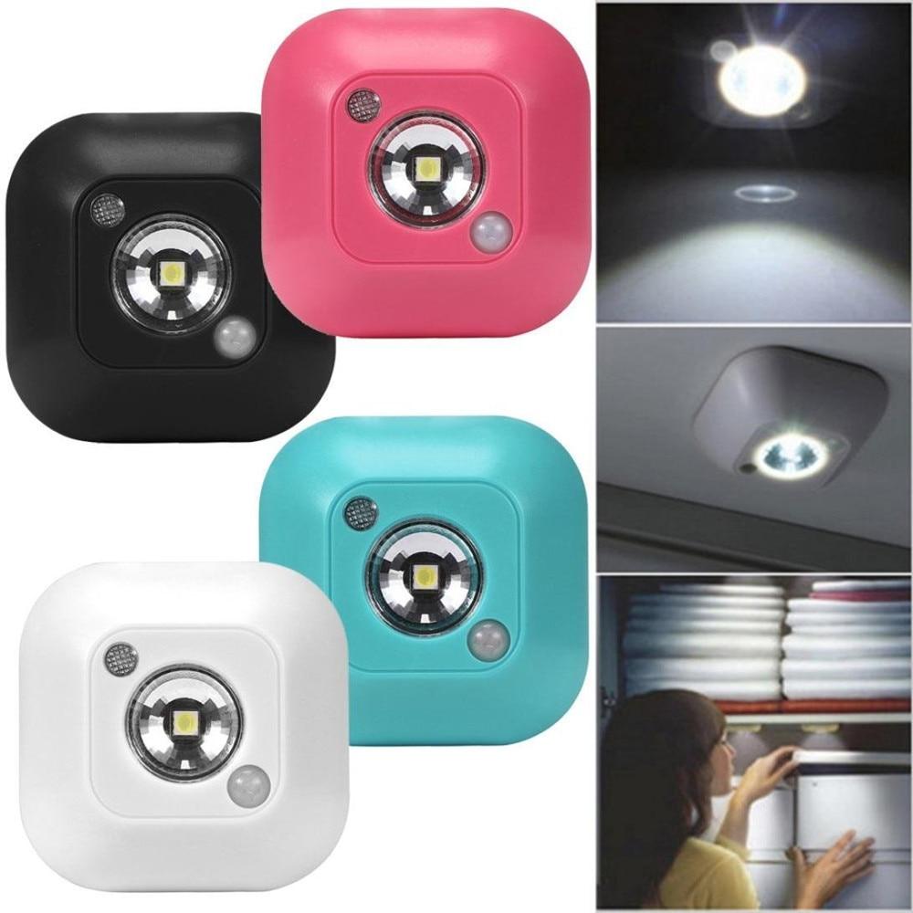 Mini Wireless LED Night Light PIR Motion Sensor Night Light Wall Emergency Night Lamp Battery Power For Cabinet Wardrobe Closet