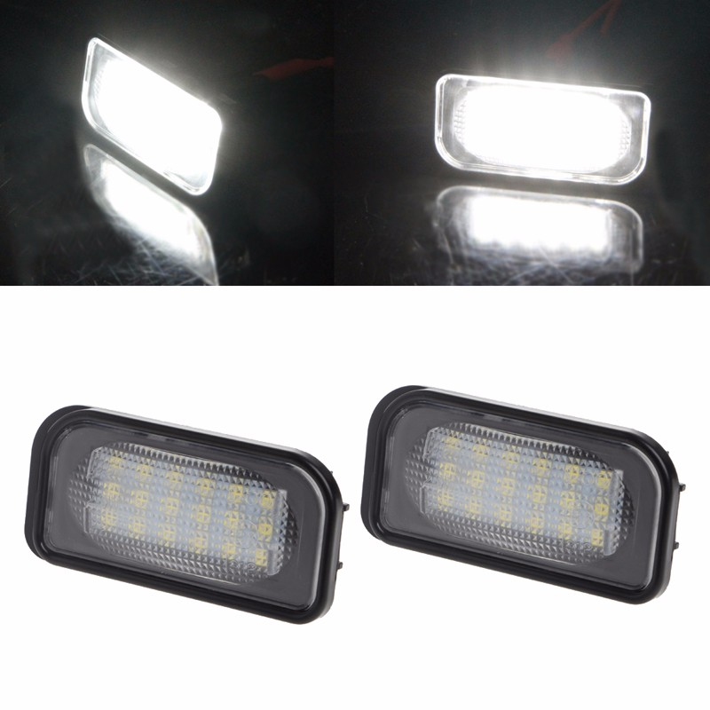 New 2Pcs 18 LED SMD No Error License Plate Light For Benz W203 W211 W219 R171 Car Light  ...