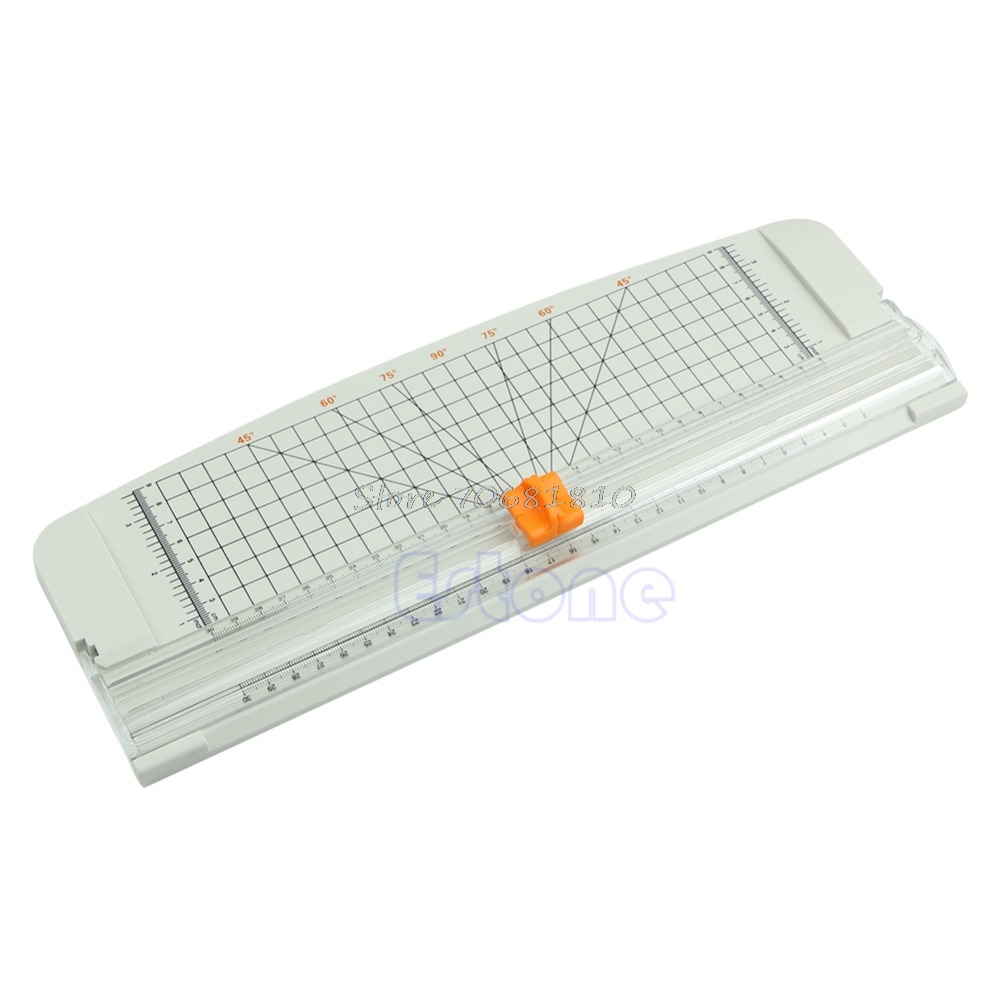 For Jielisi 909 4 A4 Guillotine Ruler Paper Cutter Trimmer Cutter White Orange New R179T Drop