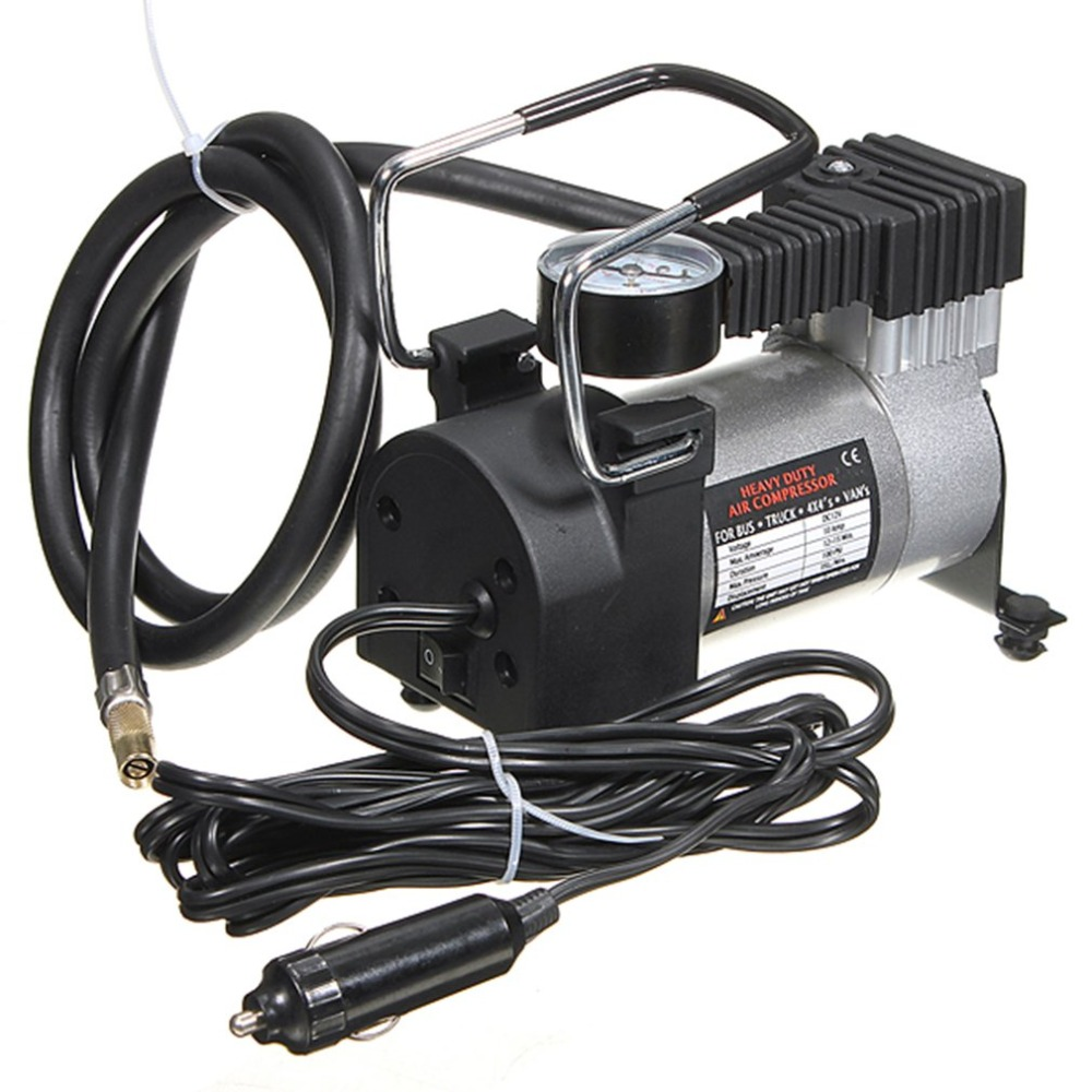 Portable 12V 14A Car Auto Electric Air Compressor Tire Inflator Pump with Extended Power Cord with Cigarette Lighter Plug NewhotPortable 12V 14A Car Auto Electric Air Compressor Tire Inflator Pump with Extended Power Cord with Cigarette Lighter Plug Newhot