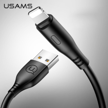 USB Cable for iPhone 6 7 8 X XR USAMS 0.25m 1m 2m for iOS Fast Charging