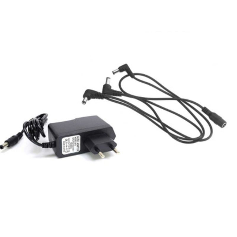 EU US UK <font><b>9V</b></font> DC 1A <font><b>Guitar</b></font> Effect <font><b>Pedal</b></font> Power Supply <font><b>Adapter</b></font> 3 way Splitter Chain Cable Cord image
