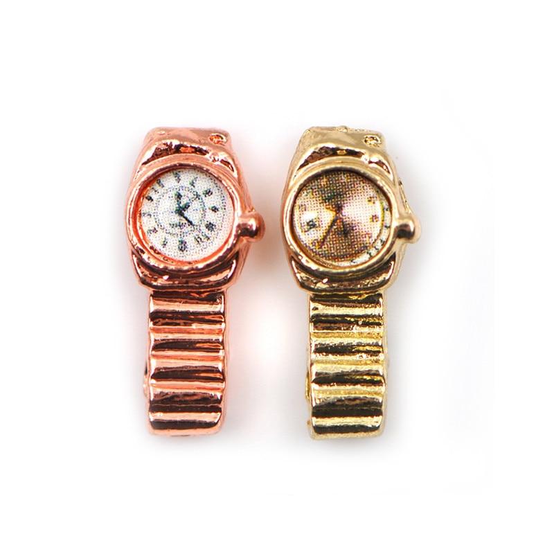 4 Pieces 1:12 Dollhouse Miniature Watches Dollhouse Accessories Decoration