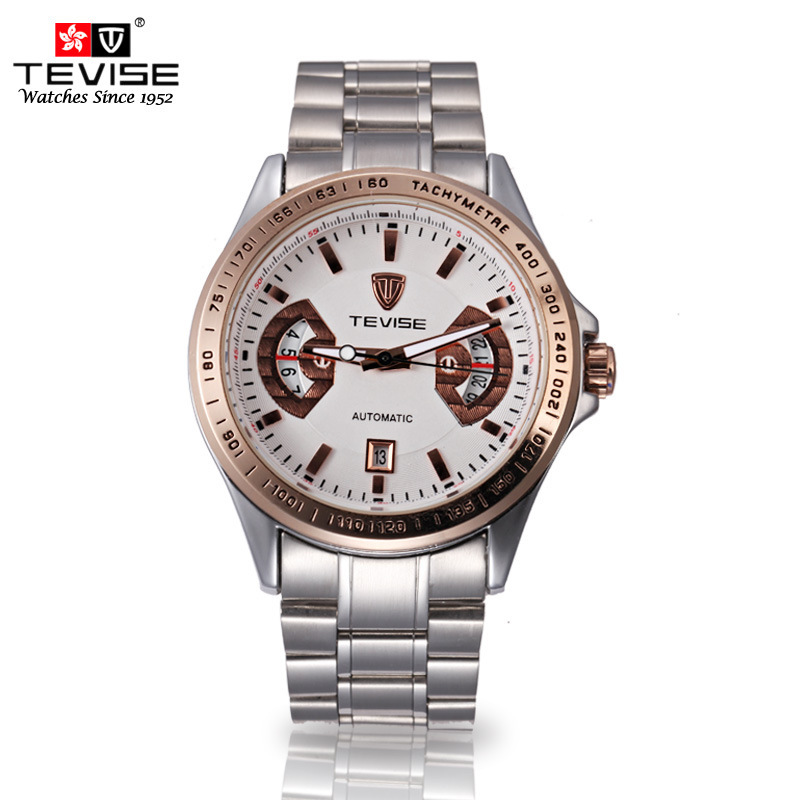 TEVISE Men s Authentic Automatic mechanical waterproof calendar Business Leisure Men s Wrist watches