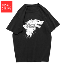 COSMIC STRING 100% cotton summer loose game of thrones men T shirt casual cool winter is coming tshirt male t-shirt tee shirts