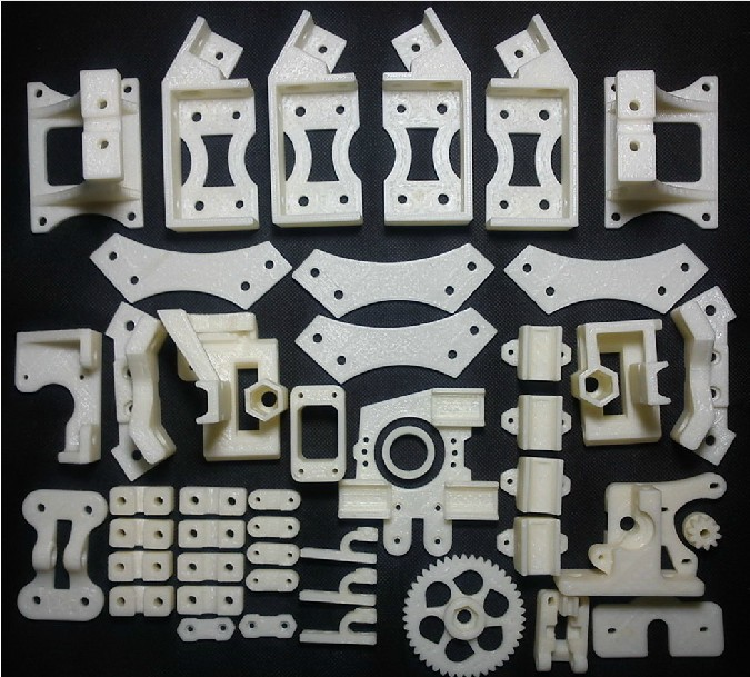 3 D printer accessory Reprap Mendel MendelMax 1.5 hard copy printed parts kit ABS great quality free shipping