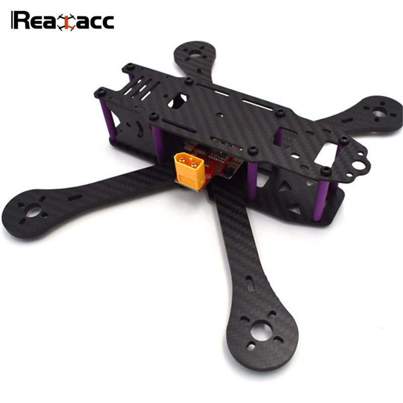 Original Realacc X4R X5R X6R 180mm 220mm 250mm 4mm Arm Carbon Fiber Frame Kit With BEC Output PDB Board For RC Quadcopter Toys