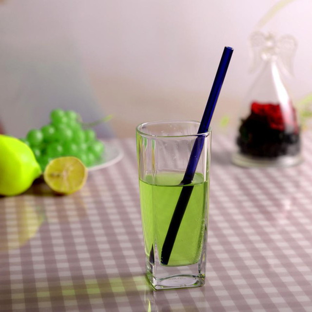 Reusable Glass Smoothie Drinking Straw